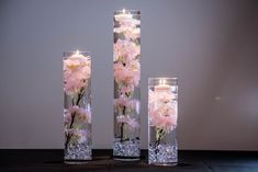 Submersible Pink or White Cherry Blossom Floral Wedding centerpieces Submersible Pink, White, Blue, turquiose Cherry Blossom Floral Wedding Centerpiece with Floating Candles and Acrylic Crystals Kit Water Centerpieces, Silk Flower Centerpieces, Wedding Table Centerpieces, Wedding Decorations, Cherry Blossom Centerpiece, Centerpiece Ideas, White Cherry Blossom, Cherry Blossom Wedding, Blue Cherry