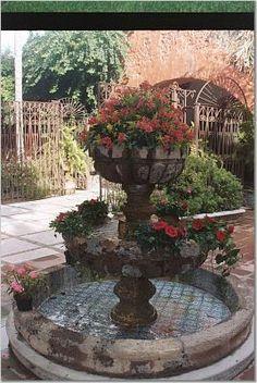 Fuente de la hacienda Cortez en Cuernavaca.