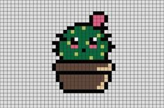 , Cactus Pixel Art A cactus is a member of the plant family Cactaceae. , Cactus Pixel Art A cactus is a member of the plant family Cactaceae, a family comprising about 127 genera with some 1750 known species of. Pixel Art Templates, Perler Bead Templates, Perler Patterns, Perler Beads, Perler Bead Art, Cross Stitching, Cross Stitch Embroidery, Cross Stitch Patterns, Minecraft Pixel Art