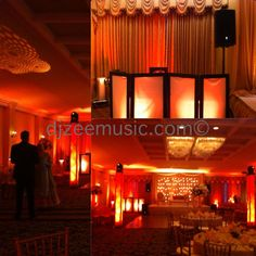 LED Ballroom Uplighting with intelligent moving heads at Sweet Water Country Club in Sugar Land, TX  By: DJZEEMUSIC ENTERTAINMENT
