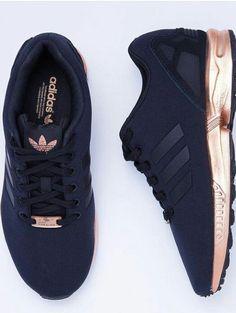 Adidas Womens ZX Flux core black/copper metallic … ,Adidas shoes #adidas #shoes
