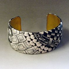 zen1fron. Zentangle Polymer Clay Bracelet  by Alice Stroppel I so want to play with zentangles and polymer clay, separately and together! Classic beauty.
