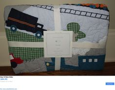 Quilts And Coverlets: Nwt Pottery Barn Kids Brody Nursery Toddler Crib Quilt Train Cars Trucks BUY IT NOW ONLY: $84.95 #ustylefashionQuiltsAndCoverlets OR #ustylefashion