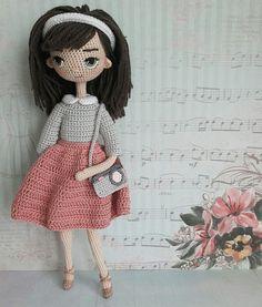 Beauty and Things (Вязаная игрушка, амигуруми)'s photos Crochet Dollies, Crochet Girls, Crochet Art, Cute Crochet, Crochet Toys, Crochet Dolls Free Patterns, Amigurumi Patterns, Amigurumi Doll, Child Doll
