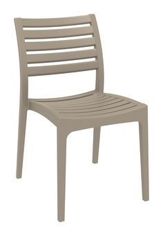 [Siesta Exclusive   Contract Collection   ARES Chair] Ares chair is produced with a single injection of polypropylene reinforced with glass fiber obtained by means of the latest generation of air moulding technology with neutral tones. For indoor and outdoor use.