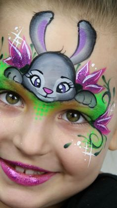 ~ BODY ART ~ Face Paint bunny design