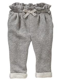 Marled terry pants. Gap. Just bought these for Lilly. They might be my favorite purchase for her yet!