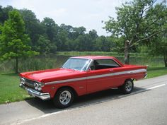 comet car | car 1964 mercury comet caliente owner s paul koenen color red engine .  prettttty much like ours but without the other color on the side. We made at least ONE fl. vacation in this thing!..