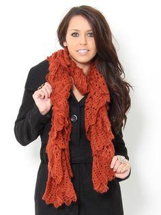 Scallop Crochet Scarf - Scarves - Accessories - Accessories #STYLESFORLESS