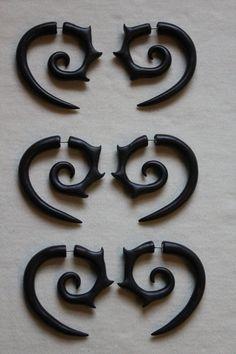 Girl With The Dragon Tattoo Earrings  Gauge by SwirlyGirlyGoddess, $22.99