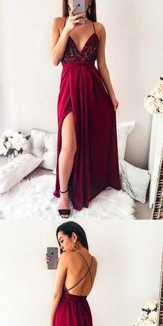 7939486a486b F0157 Simple Open Back Sexy Formal A Line Cheap Long Prom Dresses