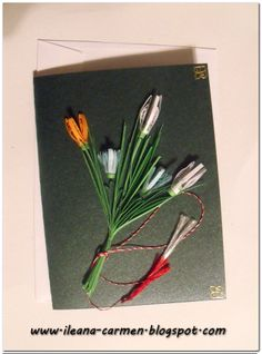 Quilling Cards with Spring Flowers. Parts Of A Flower, Quilling Cards, Spring Flowers, Projects, Handmade, Crafts, Log Projects, Blue Prints, Hand Made