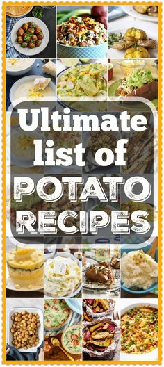 The best easy potato recipe ideas for breakfast, dinner and side dishes! From the best way to cook potatoes to totally loaded soups and meals you'll be set. Easy Potato Recipes, Side Dish Recipes, Vegetable Recipes, Easy Dinner Recipes, Healthy Dinner Recipes, Breakfast Recipes, Easy Meals, Cooking Recipes, Healthy Dinners