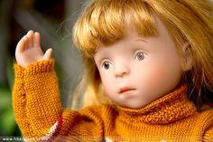 Minouche Gala doll jacquard pullover. #Minouche #Kaite Kruse #doll #handmade #knit #pullover