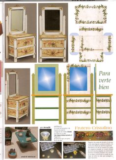 MINISDEANNA: TUTORIALES Cardboard Dollhouse, Diy Dollhouse, Dollhouse Miniatures, Dollhouse Miniature Tutorials, Miniature Dollhouse Furniture, Barbie Bedroom, Home Theater Furniture, Paper Houses, How To Make Diy