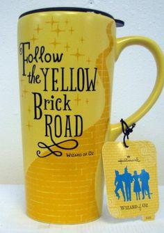 Hallmark Wizard of Oz Yellow Brick Road Ceramic Travel Mug Wizard Of Oz Collectibles, Film Disney, Land Of Oz, Yellow Brick Road, Activity Days, Over The Rainbow, Mellow Yellow, Mug Shots, The Wiz