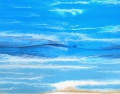 "Seascape Artists International: Original Abstract Seascape Painting, Beach Art,Coastal Living ""Royal Wave-Study 4"" by Colorado Contemporary Artist Kimberly Conrad"