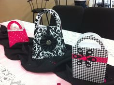 Purse Gift Bags (used as centerpieces)