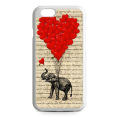 Elephant and heart iPhone 6 Case