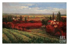 Tuscan Fields of Red Art Print
