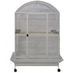 A&E Cage Company Stainless Steel Macaw Mansion Enormous X-Large Dometop Bird Cage