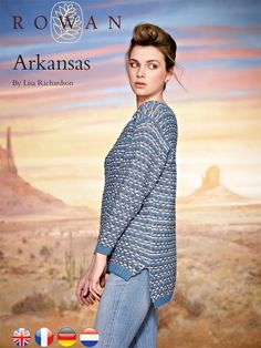 Arkansas - Slip stitch sweater with contrasting edgings, and dipped back hem