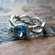 London blue topaz ring - silver ring - December birthstone - solitaire - faceted gemstone ring - teal blue - custom. $178.00, via Etsy.
