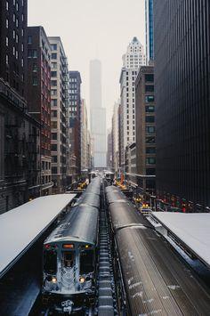 "wordlesschorusphotos: "" Chicago's Leading Lines """