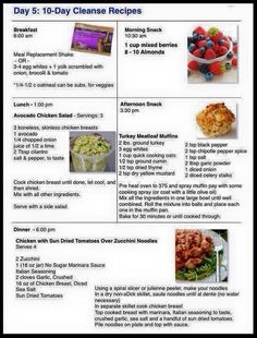 Day 5 Ideas for the Cleanse