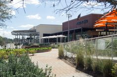 Restaurant Row on Lake Woodlands. The Woodlands, TX.