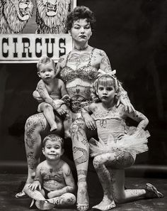 Circus family, c 1965. Todd Walker.