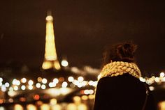 That could practically be me from the back, except I've never been lucky enough to go to Paris!
