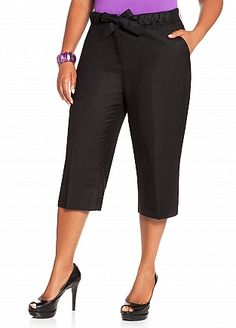 Ashley Stewart: Whipstitch Linen Crop Pant