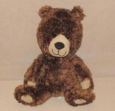 "Circo Bear Brown Tan Corduroy Paws Teddy Shiny Plush Stuffed Target Toy 12"" #Circo"