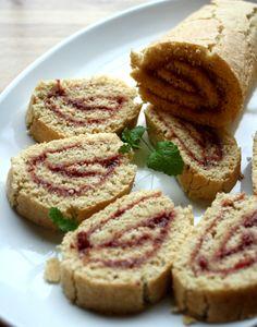 Sunn rullekake Stevia, French Toast, Gluten Free, Healthy Recipes, Cookies, Breakfast, Desserts, Food, Blogging