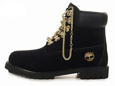 Cheap For Women's Timberland Gold Chain Boots Black Timberland Outfits, Timberland Mens Shoes, Timberland Stiefel Outfit, Timberland 6 Inch Boots, Timberland Waterproof Boots, Gold Boots, Black Boots, Black And Gold Shoes, Black Gold