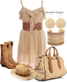 """""""Cowgirl Fun"""" by amabiledesigns on Polyvore"""
