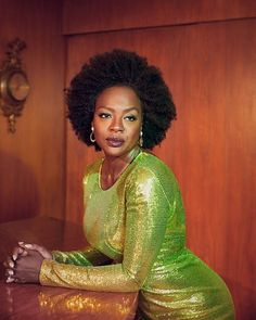American actress Viola Davis wears a look from Max Mara with Tiffany & Co. earrings on the Winter 2018 cover of L'Officiel US lensed by photographer . Blonde Actresses, Black Actresses, Young Actresses, Classic Actresses, Child Actresses, Female Actresses, Hollywood Actresses, Indian Actresses, Diane Lane