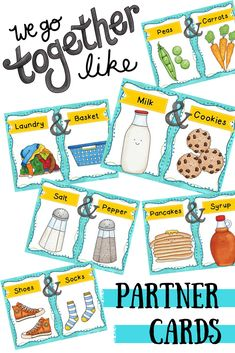 A fun way to group your students! Partner pairing cards where students have to find their correct partner! $