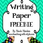 Use this writing paper for students to draw a picture and write a story.  FREE