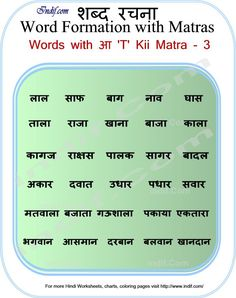 Learn to Read Hindi Words with Matras Hindi Alphabet, Alphabet Words, Rhyming Words, Alphabet Pictures, Worksheets For Grade 3, Hindi Worksheets, Kindergarten Worksheets, Simple Present Tense Worksheets, Hindi Poems For Kids