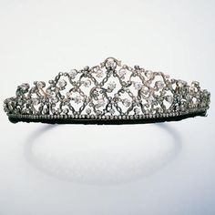 A diamond lattice tiara, 1880, sold via Bonham's on 24 June 2004, for £15,535.