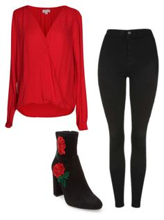 """Roses are red"" by hanah626 on Polyvore featuring Velvet by Graham & Spencer, Topshop and Steve Madden"