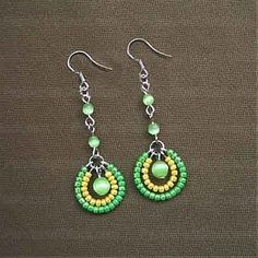 How To Make Seed Bead Earrings  4 Step Making Seed Bead Earrings