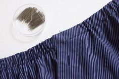 A Pair & A Spare | How to Turn a Men's Shirt into a One Shoulder Wrap Top