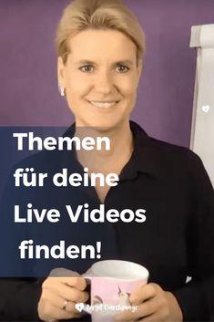Wie du Themen für deine live Videos findest, die dich und deine Kunden begeistern! - Birgit Quirchmayr Coaching, Videos Instagram, Facebook, Content Marketing, Youtube, Live, Video Editing, Tips And Tricks, Knowledge