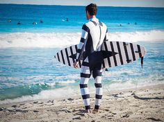 5 Ways To Repel A Shark Attack Zebra Wetsuit: Scientists predict 2016 will have the highest amount of shark attacks.  Check out what I found that could keep you from being eaten alive. http://cyberguy.com/appearances/5-ways-repel-shark-attack/ #sharkattack #swimming #beach #summer #gadgets #tech #safety #wetsuit