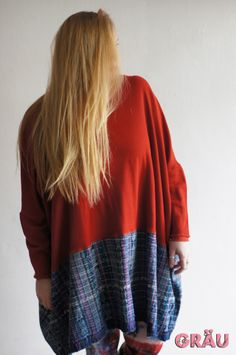 Basic Red with Guatemalan Trim Top