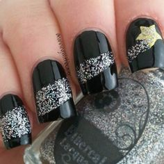 20 Star Nails Art Ideas For Your Brilliant Look Star Nail Art, Star Nails, New Year's Nails, Get Nails, Fancy Nails, Hair And Nails, Fabulous Nails, Gorgeous Nails, Pretty Nails
