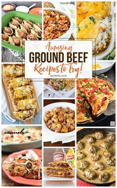 25+ of THE BEST GROUND BEEF RECIPES - Pull some ground beef out of the freezer and try one of these awesome ground beef recipes tonight! Over 25 delicious meals to make! Just grab some hamburger and pick one! YUM!